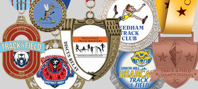 Track and Field Award Medals